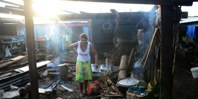 A Port-Vila, capitale du Vanuatu, dévasté par un cyclone dans la nuit de vendredi 13 à samedi 14 mars.