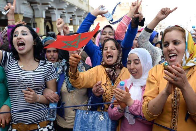 Des Marocaines manifestent pour l'égalité des sexes, le 8 mars 2015, à Rabat.