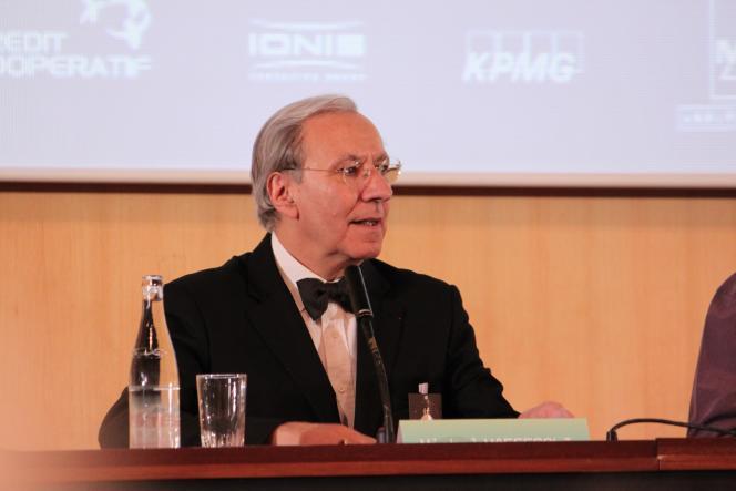 Michel Maffesoli lors de l'Université de la Terre, à l'Unesco, à Paris, le 2 avril 2011.