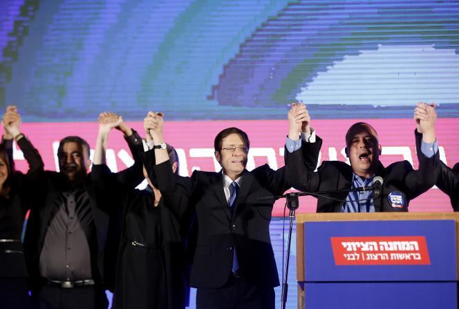 La liste de centre-gauche du travailliste Isaac Herzog obtiendrait 24sièges.