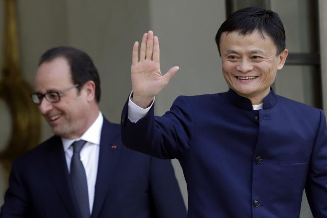 Jack Ma, fondateur d'Alibaba reçu par François Hollande à l'Elysée le 18 mars, lui a annoncé que son groupe allait ouvrir une