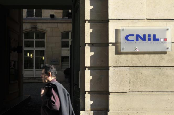Le siège de la Commission nationale informatique et libertés, à Paris.