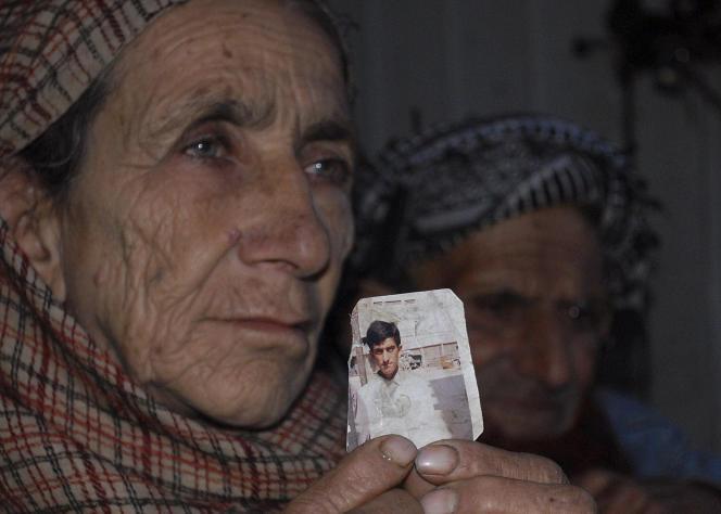 La mère d'un condamné à mort, le 14 mars à Muzaffarabad, au Pakistan.
