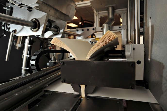 Un livre test est imprimé sur l'