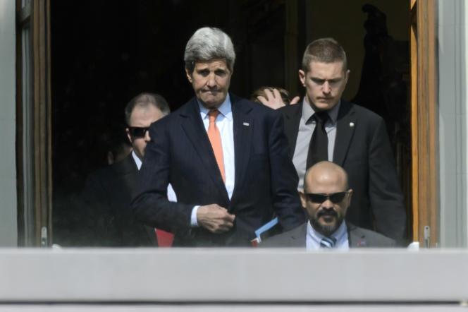 John Kerry, le 19 mars à Lausanne.