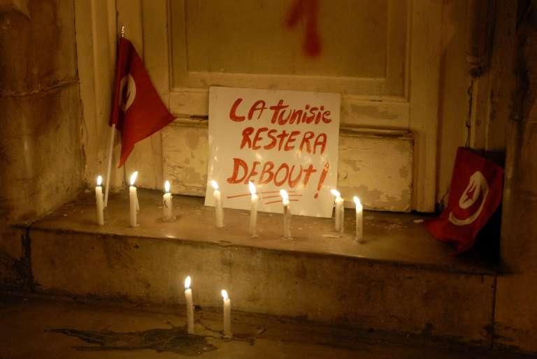 Après l'attentat du musée du Bardo, près de Tunis, le 18 mars 2015. L'attaque de l'Etat islamique a tué 24 personnes.