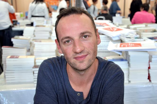 François Bégaudeau en dédicace, en 2012.