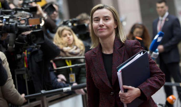 La haute représentante pour la diplomatie de l'Union européenne (UE), Federica Mogherini, à Bruxelles, le 19 mars.