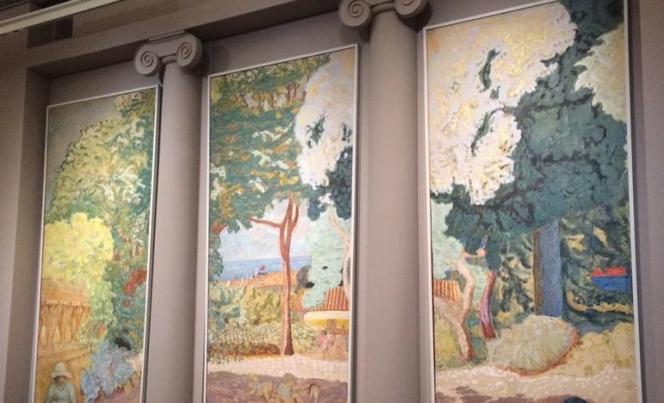Détail de l'une des deux photographies postées par la ministre de la culture, lundi 16 mars, lors du vernissage de l'exposition Bonnard au Musée d'Orsay.