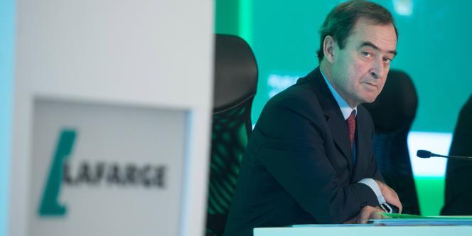 Bruno Lafont, PDG de Lafarge, sera finalement coprésident non exécutif de Lafarge-Holcim, de même que l'actuel président du groupe suisse Wolfgang Reitzle.