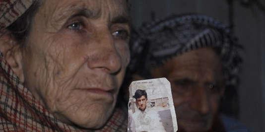 La mère de Shafqat Hussain, le 18 mars au Pakistan.