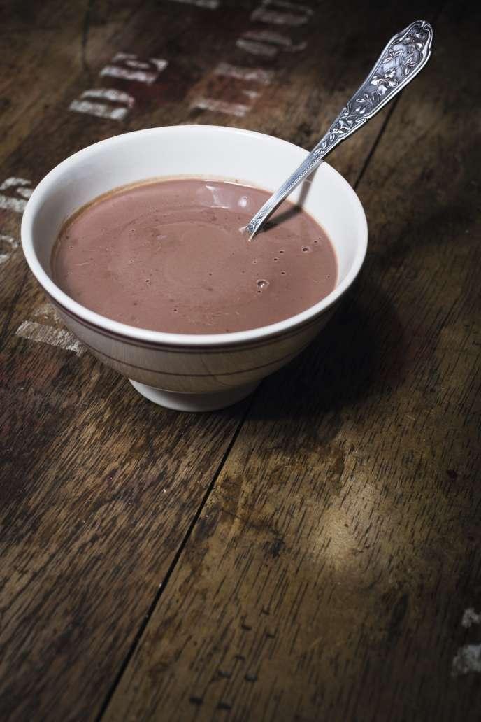 La bouillie au chocolat.