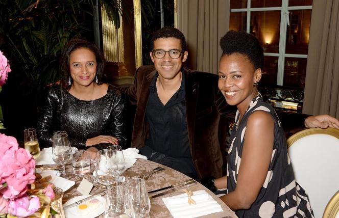 Isabel dos Santos, Sindika Dokolo et l'artiste kényane Wangechi Mutu.