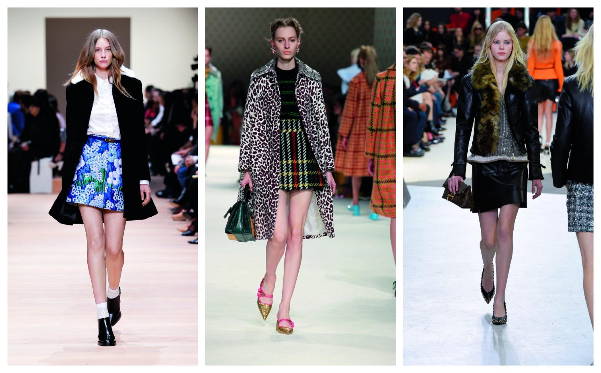Après la vague des années 1970 qui a envahi les podiums la saison dernière, les créateurs continuent de remonter le temps et ressuscitent, cette fois, une icône des sixties: la minijupe. Une pièce qui se prête à tous les exercices de style: zippée en cuir chez Louis Vuitton, en tweed revisité chez Miu Miu ou fleurie et japonisante chez Carven.
