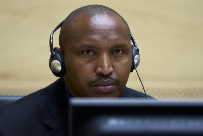 Bosco Ntaganda, chef de guerre dans l'est du Congo, lors de sa première apparition devant les juges de la Cour pénale internationale à La Haye, en mars 2013.