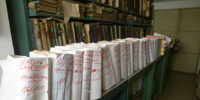 Dans les Archives national du Sénégal, à Dakar, en février 2013.