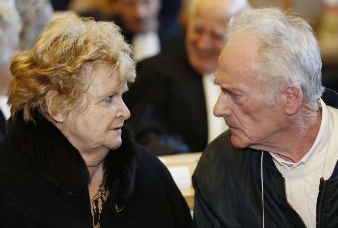 Pierre Le Guennec et sa femme, Danielle, le 10 février à Grasse.
