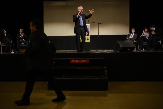 Claude Bartolone, lors d'un meeting commun de la gauche, à Bondy (Seine-Saint-denis), le 16 mars 2015.
