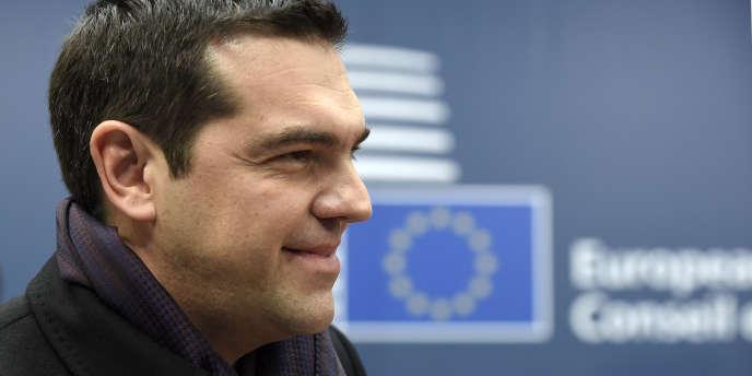 Le premier ministre grec Alexis Tsipras,le 19 mars à Bruxelles.