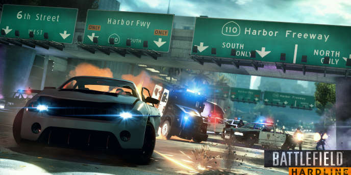 Les quelques scènes de course-poursuite de «Battlefield : Hardline» sont écrites à l'avance, ne laissant aucune place à l'improvisation.