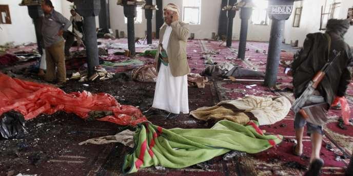 Les attentats perpétrés à Sanaa pendant la grande prière, vendredi 20mars, ont fait au moins 142morts et des centaines de blessés.