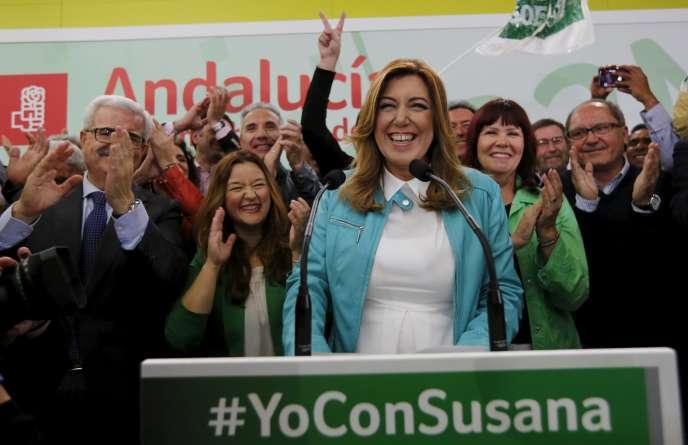 Susana Diaz, à Séville en 2015.