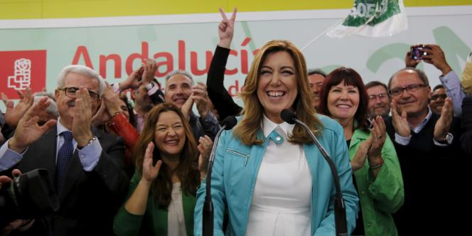 Susana Diaz, la présidente de la région andalouse, le 22 mars à Séville.