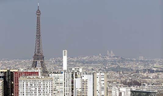 Une vue de Paris en mars  2015.