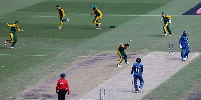 L'Afrique du Sud (jaune et vert) est opposée à la Nouvelle-Zélande en demie du Mondial mardi.