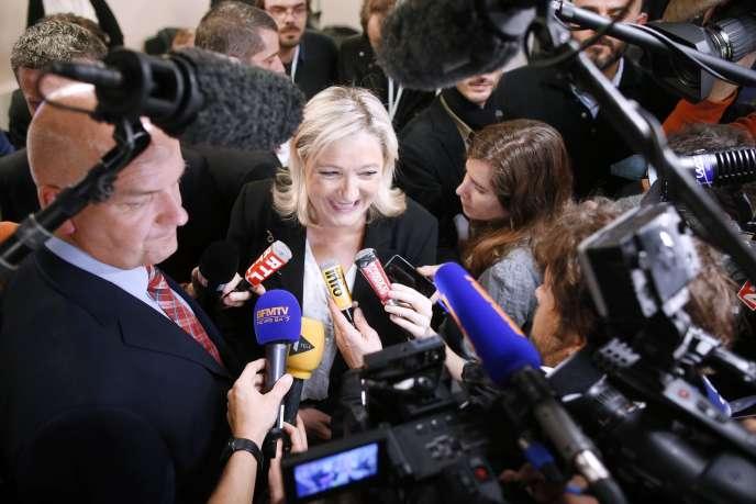 Marine Le Pen, la présidente du Front national, le soir du22mars 2015.