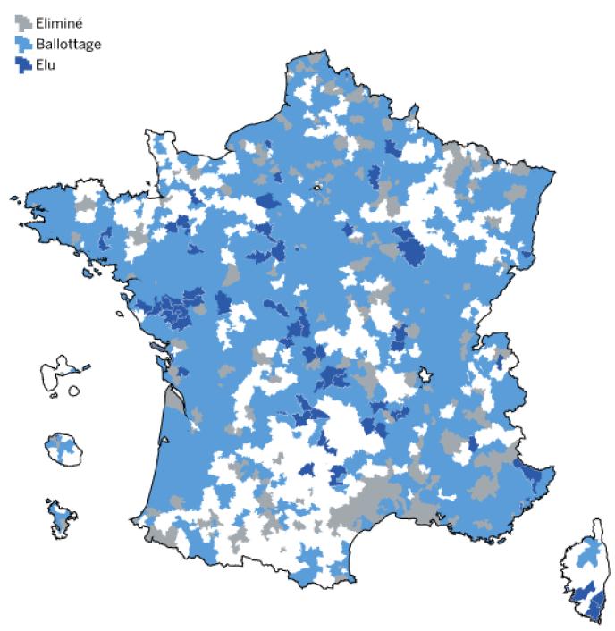 L'UMP et ses alliés se maintiennent dans la plupart des cantons où ils se sont présentés.