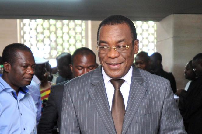 Pascal Affi N'Guessan, le contesté président du FPI, le 2 décembre 2014, au palais de justice d'Abidjan.