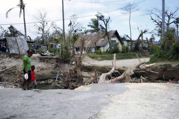 L'archipel de Vanuatu a été dévasté par le passage du cyclone Pam, de catégorie5 (la plus élevée).