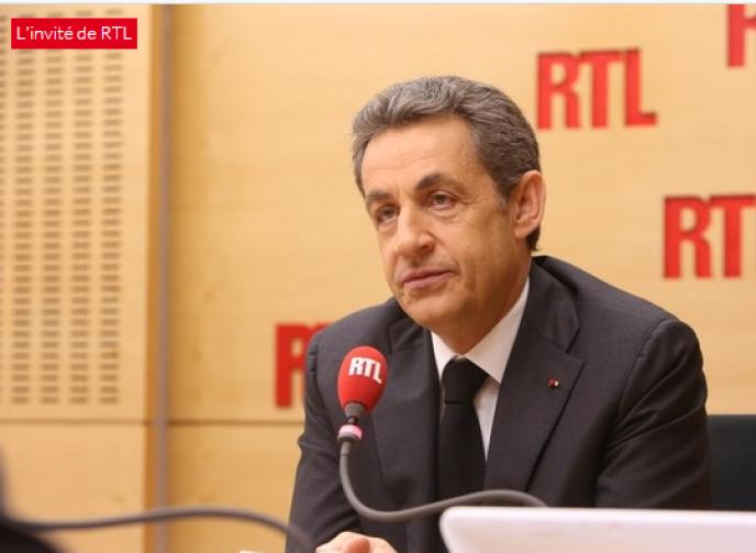 Nicolas Sarkozy, invité de RTL le 24mars.