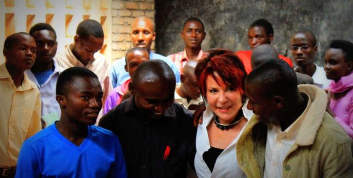 Yvelyne Wood dans le camp de réfugiés Musasa, au Burundi