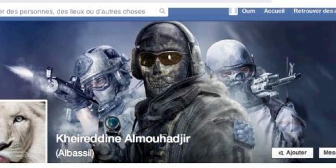 Une page Facebook citée par le Centre de prévention contre les dérives sectaires liées à l'islam montre un profil de djihadiste illustré par un lion, symbole des partisans de Ben Laden, et Ghost, un des héros de