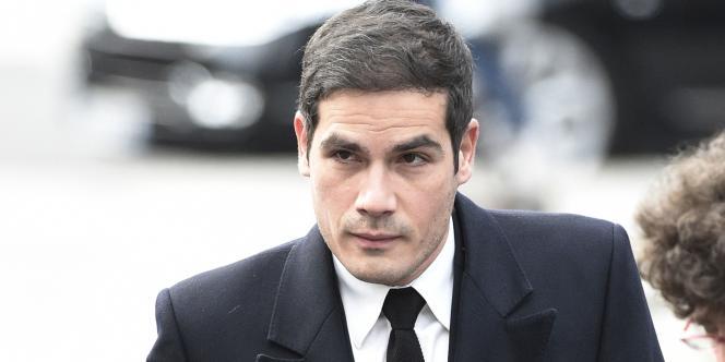 Le président de Radio France, Mathieu Gallet, le 6janvier lors des funérailles de Jacques Chancel, à Paris.