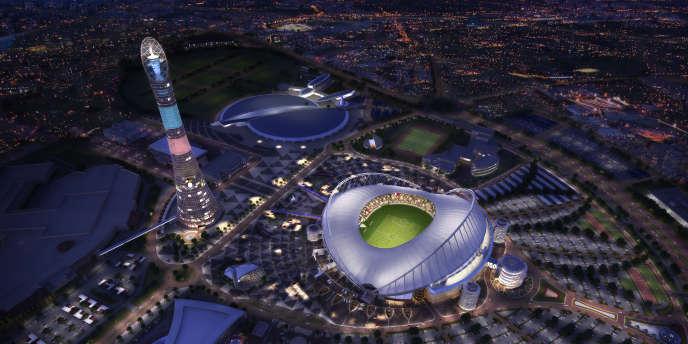 Simulation du futur stade international Khalifa de Doha, qui doit accueillir le Mondial en 2022.