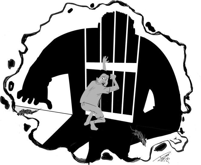 En cas d'agression, les détenus tapent sur les barreaux pour alerter les gardes pénitentiaires.