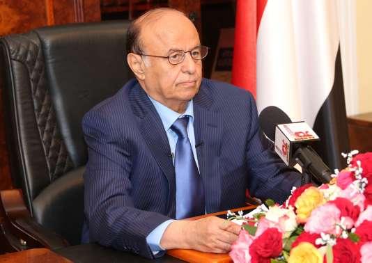 Le président Abd Rabbo Mansour Hadi, le 24mars.