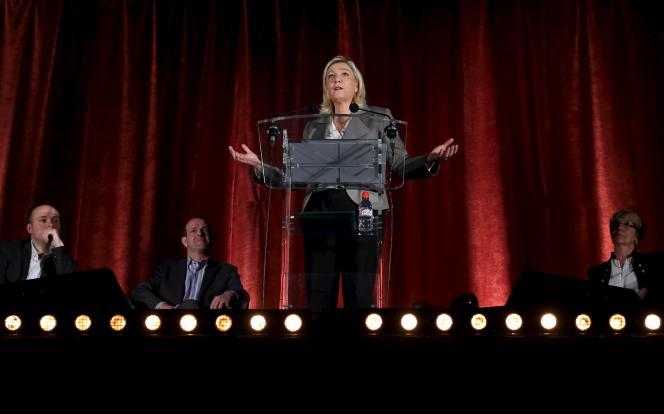 Marine Le Pen à Hénin-Beaumont, le 25 mars.