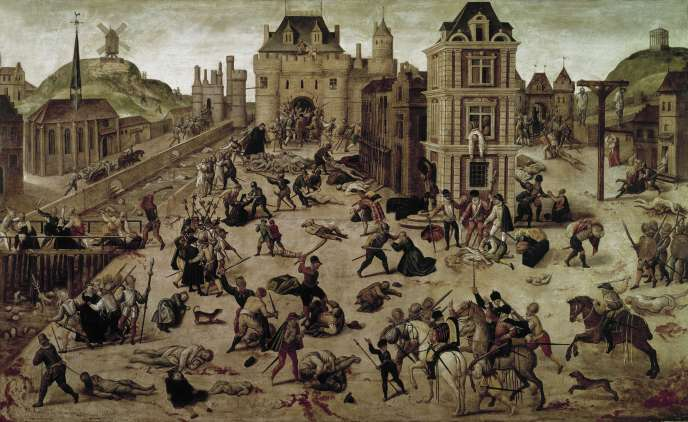 «Le Massacre de la Saint-Barthélemy» (vers 1571-1584), du peintre français protestant François Dubois (Musée cantonal des beaux-arts de Lausanne, Suisse).