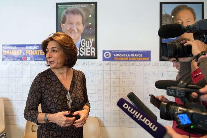 Martine Vassal, présidente du conseil départemental des Bouches-du-Rhône, en décembre 2015.