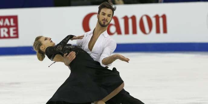 Papadakis et Cizeron lors des Mondiaux de danse sur glace.