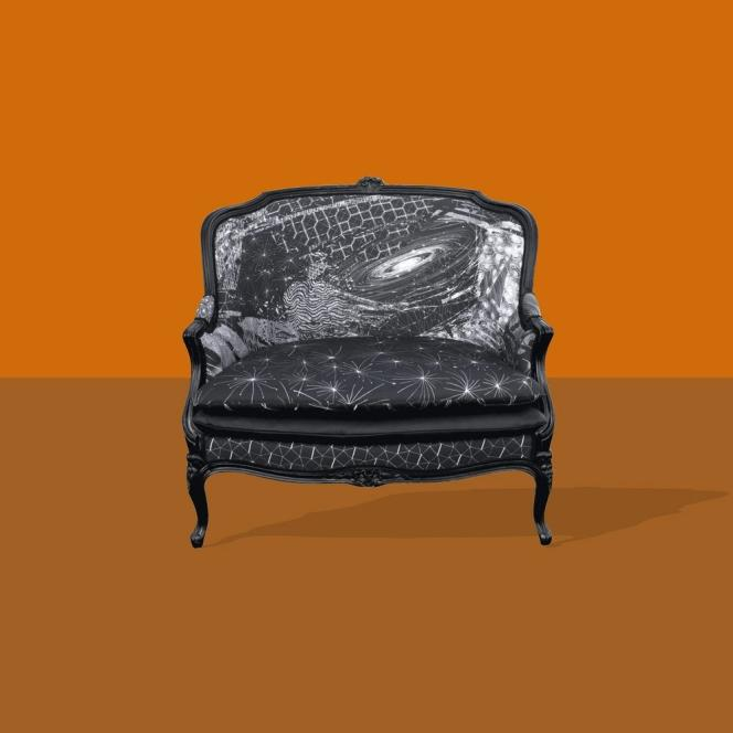 """Le """"love-seat"""" créé par Philippe Baudelocque pour Gilles Nouailhac."""