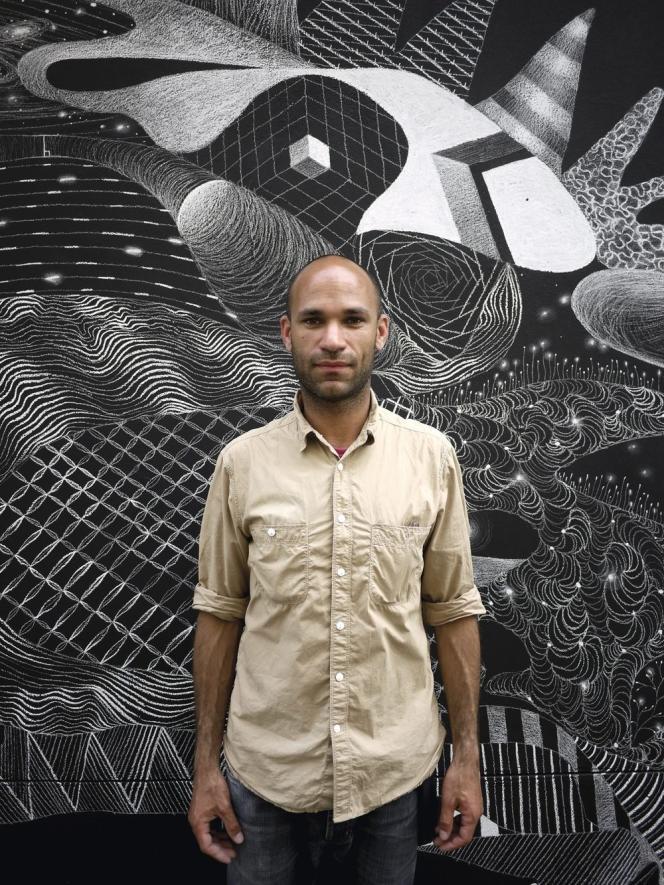 Longtemps, Philippe Baudelocque a dessiné à la craie, un medium qui lui permettait de tracer des œuvres éphémères.