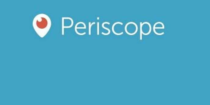 Le logo de Periscope, l'application de vidéo en direct proposée par Twitter