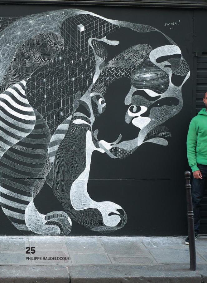 C'est avec ce chat dessiné sur un mur du Marais en 2009 que l'artiste s'est fait connaître.
