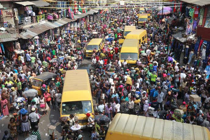 Le marché Balogun à Lagos en 2013.