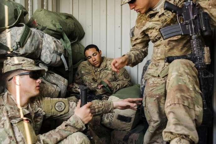 Des soldats américains, le 31décembre2014 sur la base de Gamberi, dans la province de Laghman, dans l'Est afghan.